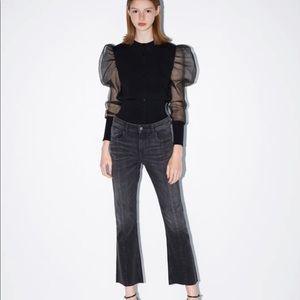 ZARA Mini Flare Cropped Jeans